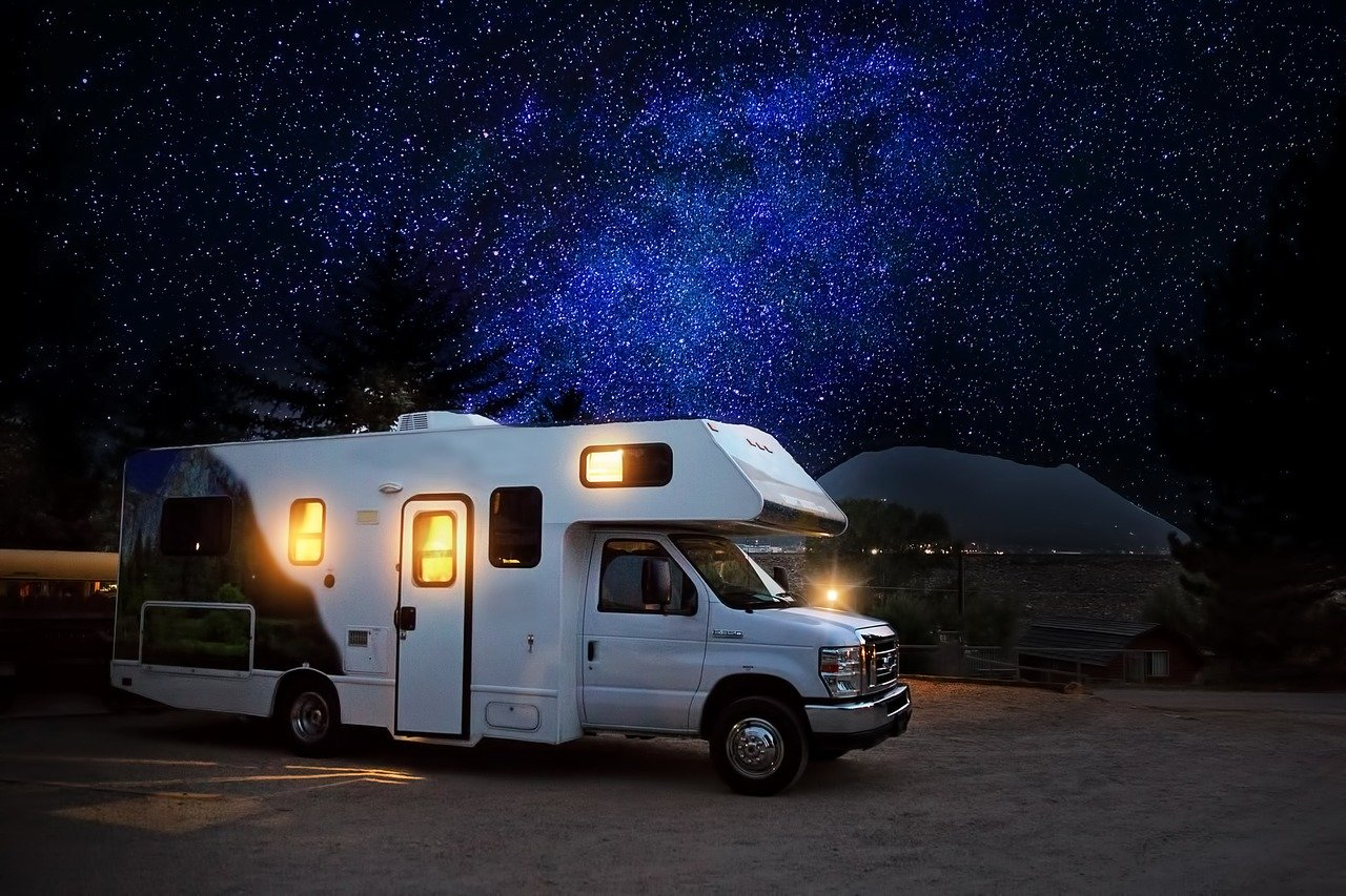 Rv Camper Night Camping Adventure